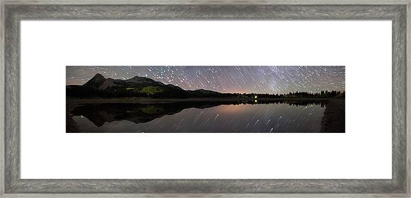 Lost Lake Star Trail Panorama Framed Print