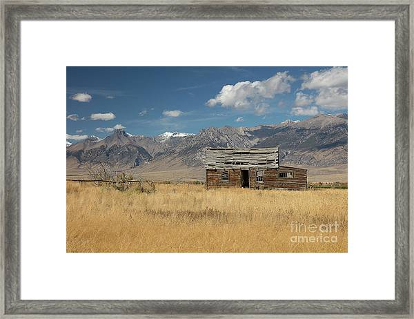 Lost River Cabin Framed Print