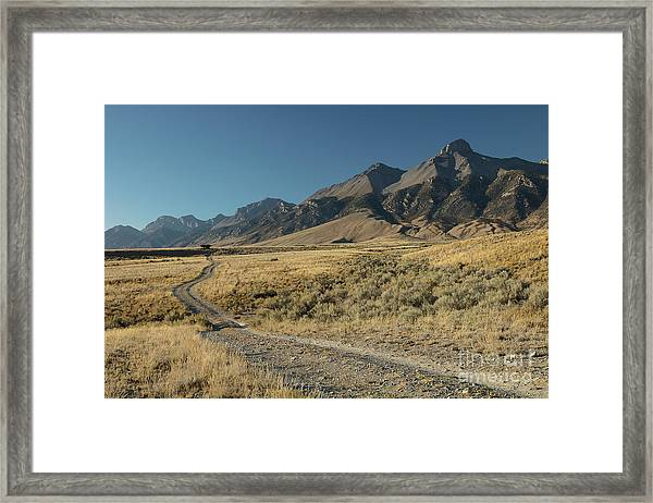 Lost River Range Road Framed Print
