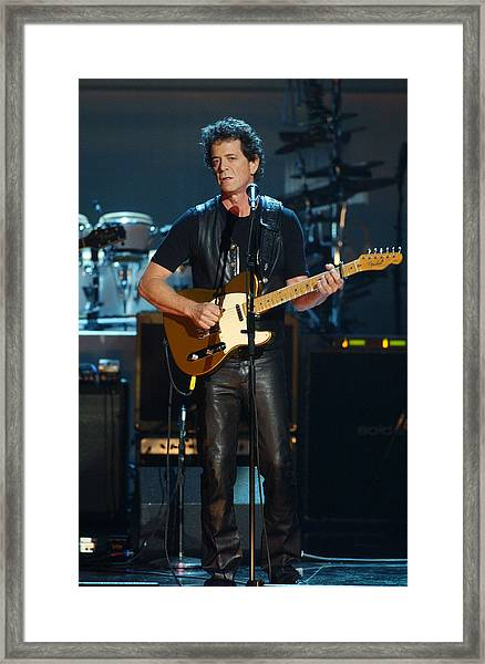 Lou Reed Framed Print by New York Daily News
