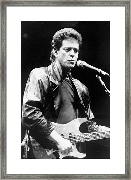 Lou Reed Sings At Childrens Health Framed Print