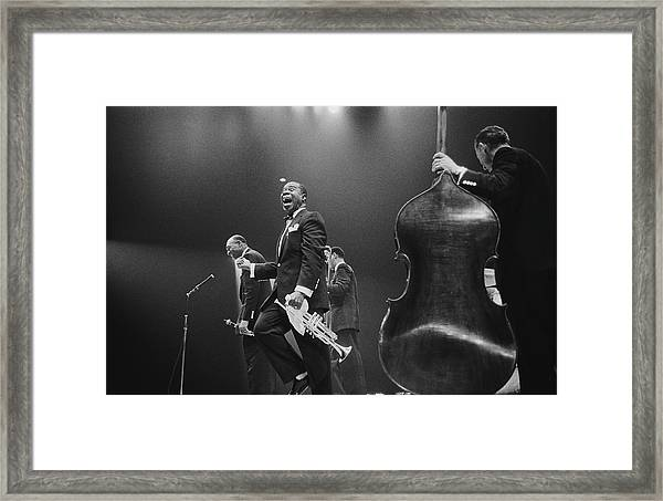 Louis Armstrong On Stage Framed Print
