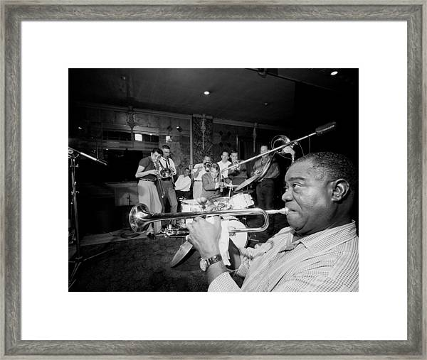 Louis Armstrong R., Who Reshaped Jazz Framed Print