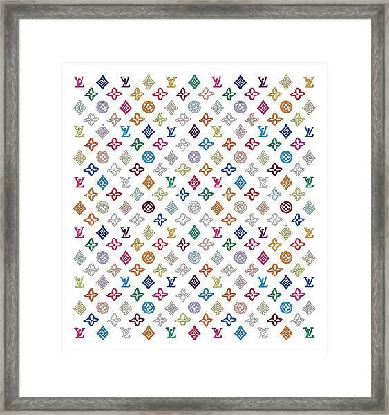 Louis Vuitton Monogram-1 Framed Print