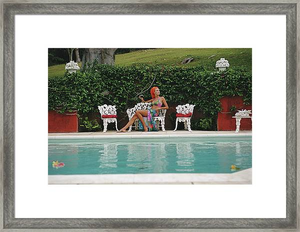 Lounging In Bermuda Framed Print