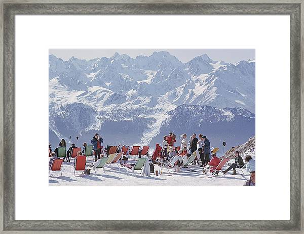 Lounging In Verbier Framed Print