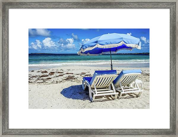 Framed Print featuring the photograph Lounging On Orient Beach, St. Martin by Dawn Richards