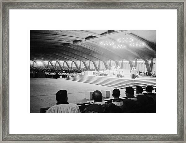 Lourdes 1958 Centennial Of The First Framed Print