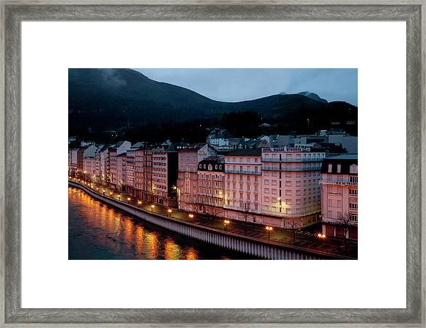 Lourdes By Night Framed Print