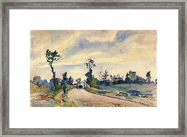 Louveciennes, Road Of Saint-germain - Digital Remastered Edition Framed Print