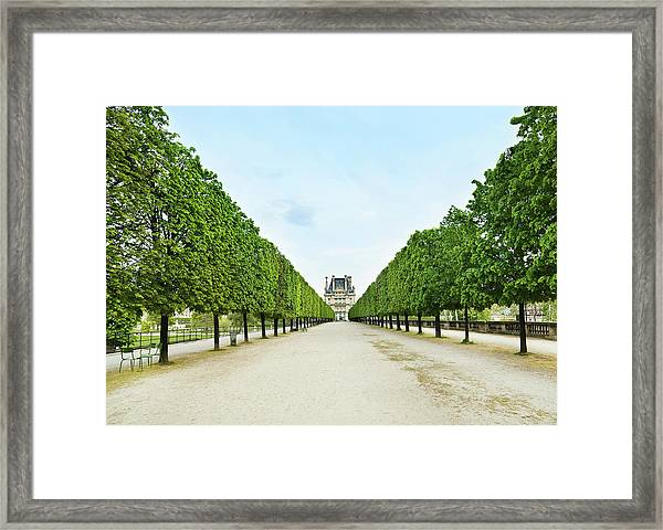 Louvre In  Paris Framed Print by Nikada