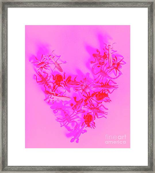 Love Bug Pop Heart Framed Print