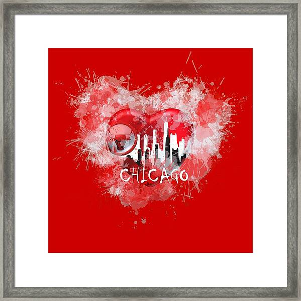 Love Chicago Colors Framed Print