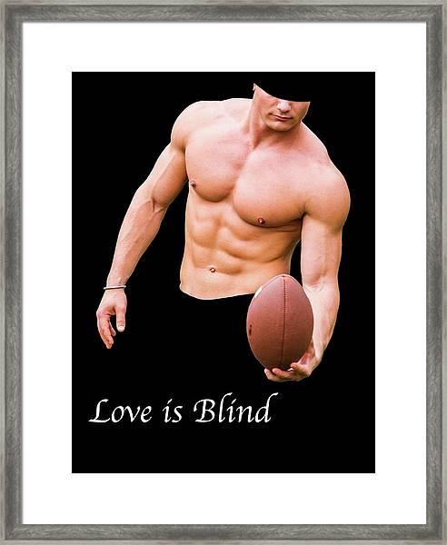 Love Is Blind 2 Framed Print