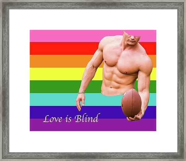 Love Is Blind 4 Framed Print