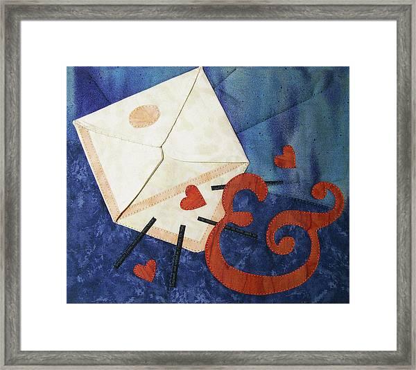 Love Letter Framed Print