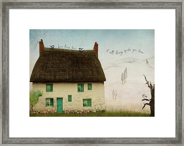 Love Lives Here Framed Print by Norma Slack