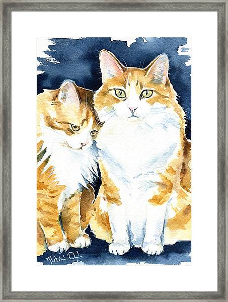 Love Me Meow Cat Painting Framed Print