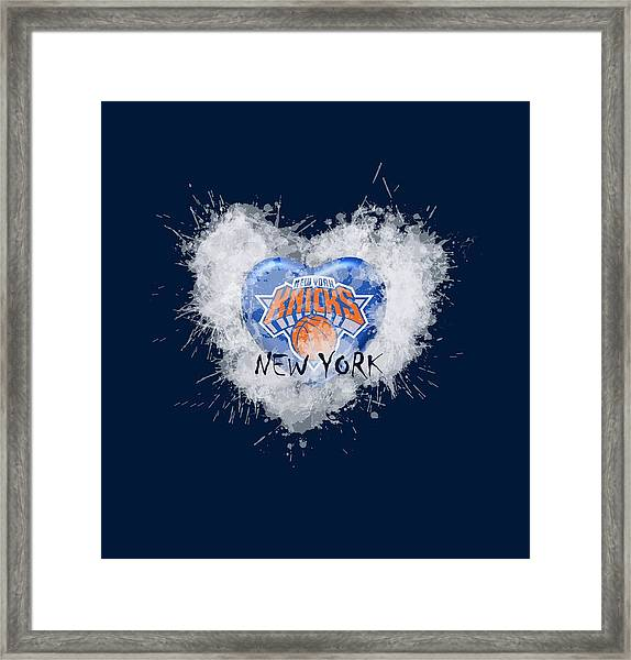 lOVE nEW yORK kICKS Framed Print