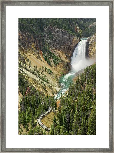 Lower Falls On The Yellowstone River Framed Print by Neale Clark / Robertharding