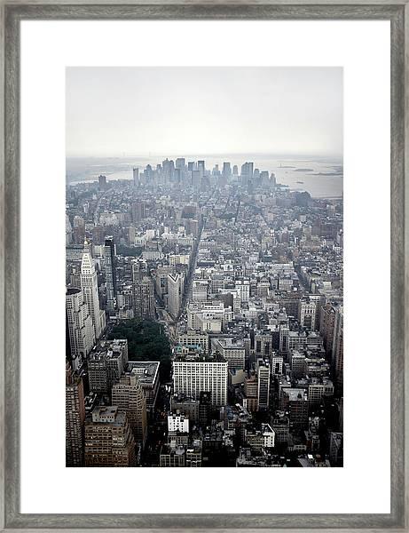 Lower Manhattan, New York, New York Framed Print
