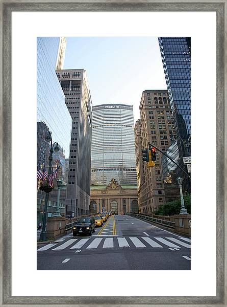 Lower Park Avenue, Grand Central Framed Print
