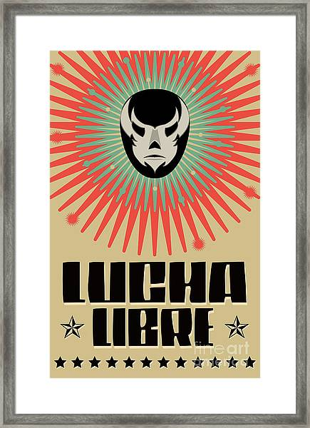 Lucha Libre - Wrestling  Spanish Text - Framed Print