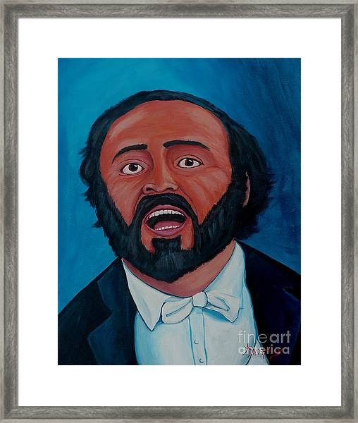 Luciano Pavarotti Framed Print