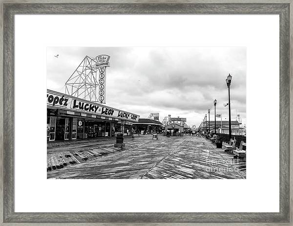 Lucky Leo's Seaside Heights Framed Print