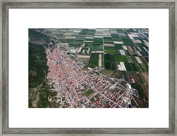 Luco Dei Marsi, Aerial View Framed Print