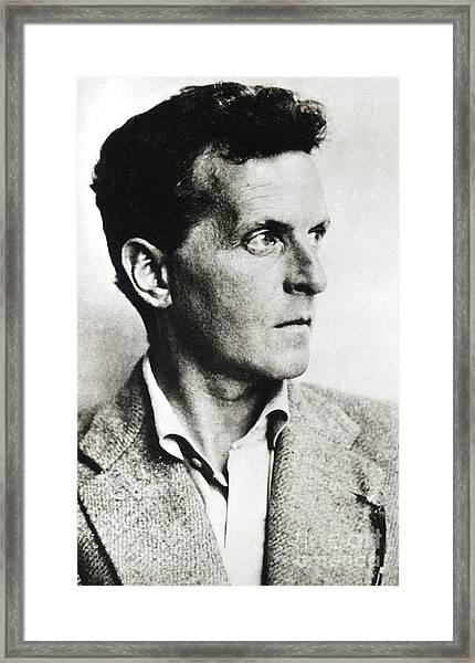Ludwig Josef Johan Wittgenstein Framed Print