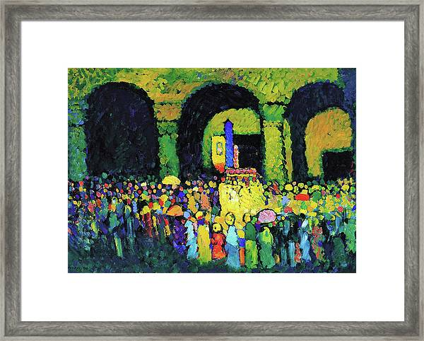 Ludwigskirche Munchen - Digital Remastered Edition Framed Print