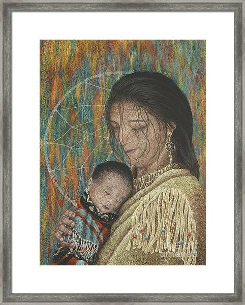 Lullaby Of Singing Wind Woman Framed Print