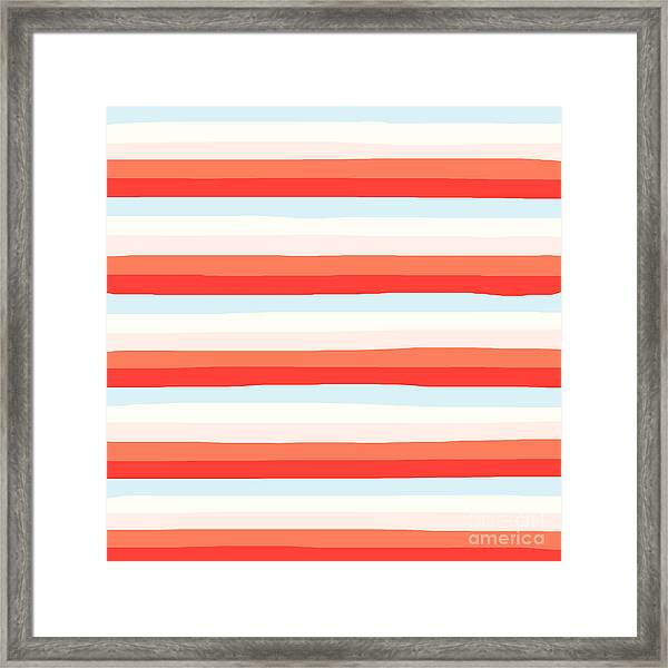 lumpy or bumpy lines abstract and colorful - QAB266 Framed Print