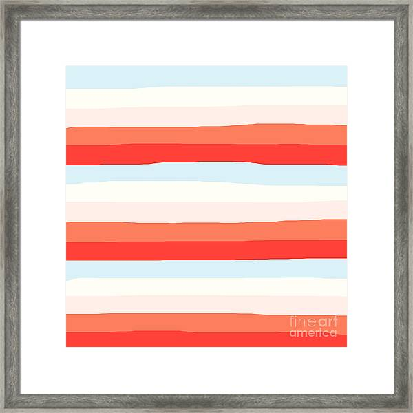 lumpy or bumpy lines abstract and colorful - QAB268 Framed Print