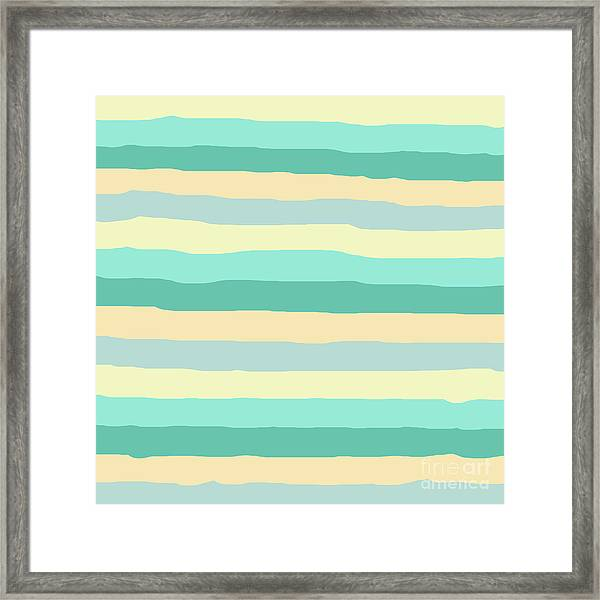 lumpy or bumpy lines abstract and summer colorful - QAB271 Framed Print