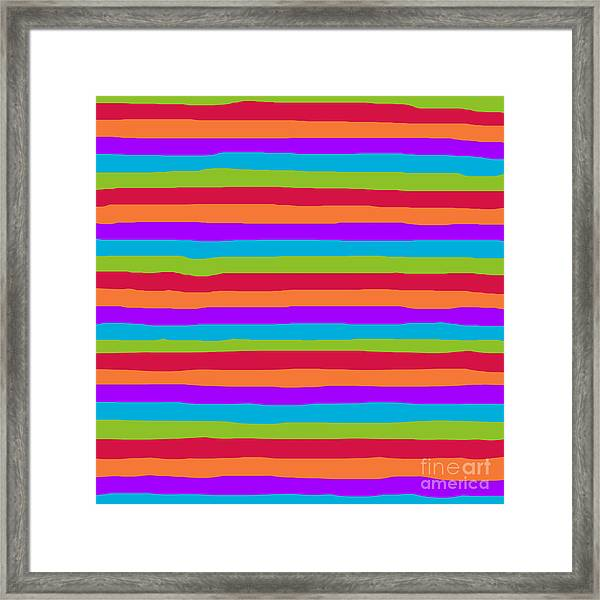 lumpy or bumpy lines abstract and summer colorful - QAB273 Framed Print