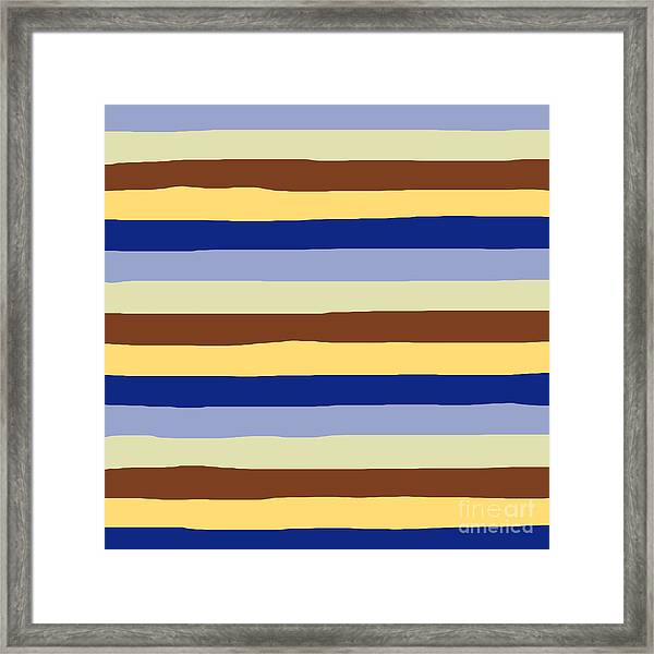 lumpy or bumpy lines abstract and summer colorful - QAB277 Framed Print