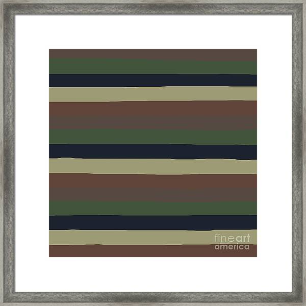 Army Color Style Lumpy Or Bumpy Lines - Qab279 Framed Print