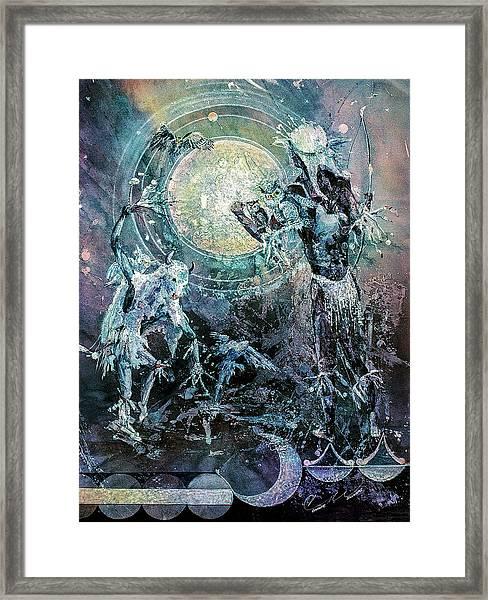 Lunar Dance Framed Print