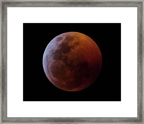 Lunar Eclipse 2019_11h44m Framed Print