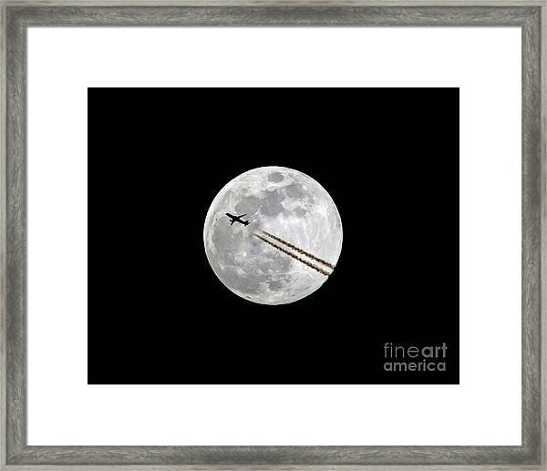 Lunar Photobomb Framed Print