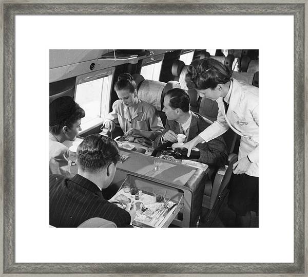 Lunch Aboard Framed Print
