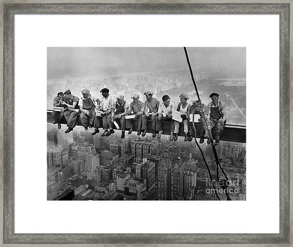 Lunch Atop A Skyscraper Framed Print