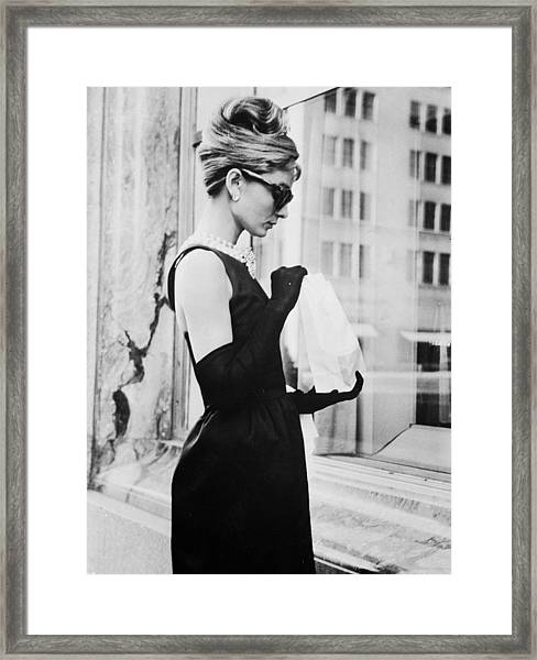 Lunch On Fifth Avenue Framed Print