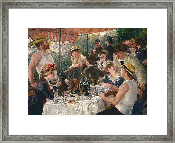 Luncheon Of The Boating Party, 1880-1881 Framed Print