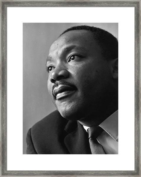 Luther King Framed Print by Reg Lancaster