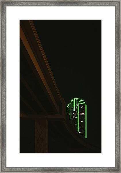 Lux Noir Framed Print