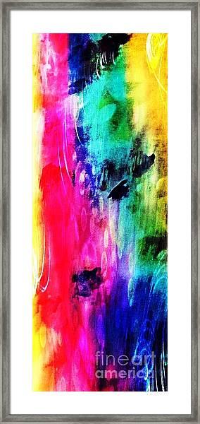 Framed Print featuring the mixed media Luxe Splash  by Rachel Maynard