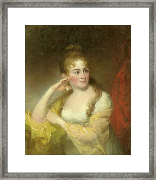 Portrait Of Lydia Leaming, 1806 Framed Print